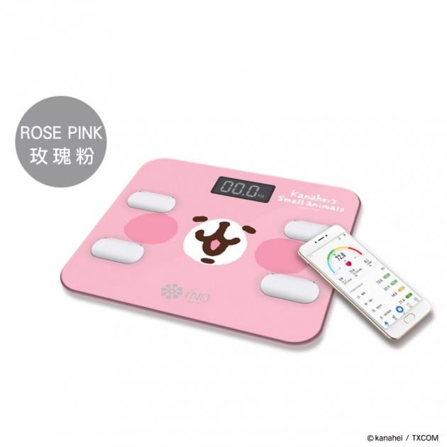 iNO卡娜赫拉的小動物藍牙體重計<br>粉紅兔兔款(粉色) 1